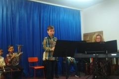 Koncert uczniów ze szkoły muzycznej